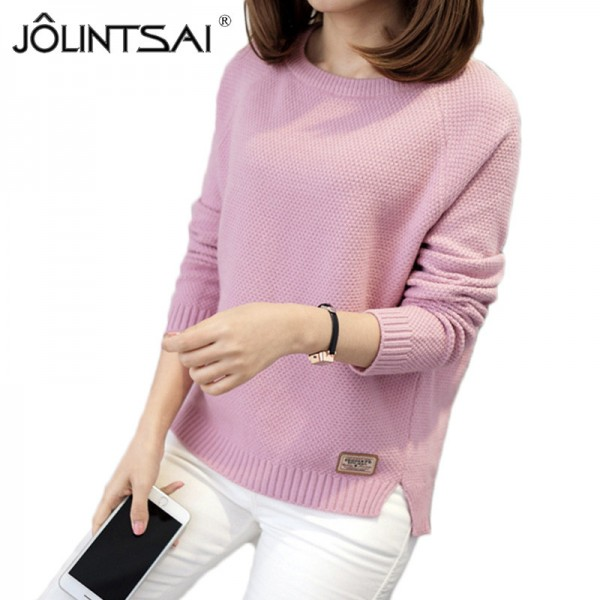 Sweater Women Knitted Pullover Female Winter O Neck Long Sleeve Women Sweaters And Pullovers Autumn Tops Pull Femme Extra Image 1