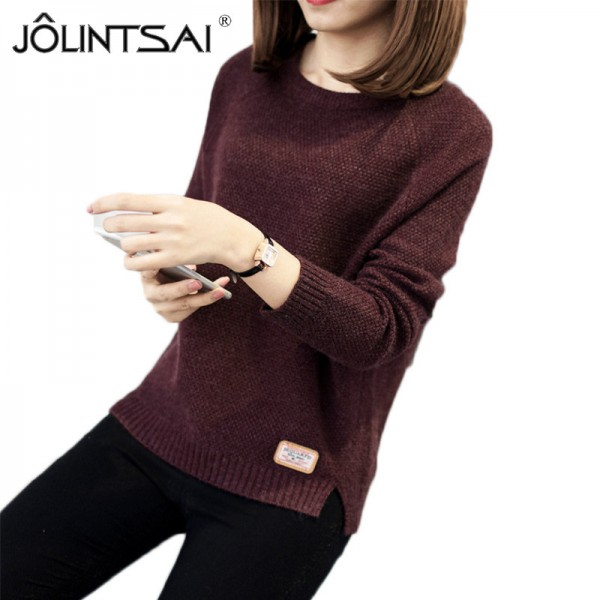Sweater Women Knitted Pullover Female Winter O Neck Long Sleeve Women Sweaters And Pullovers Autumn Tops Pull Femme Extra Image 4