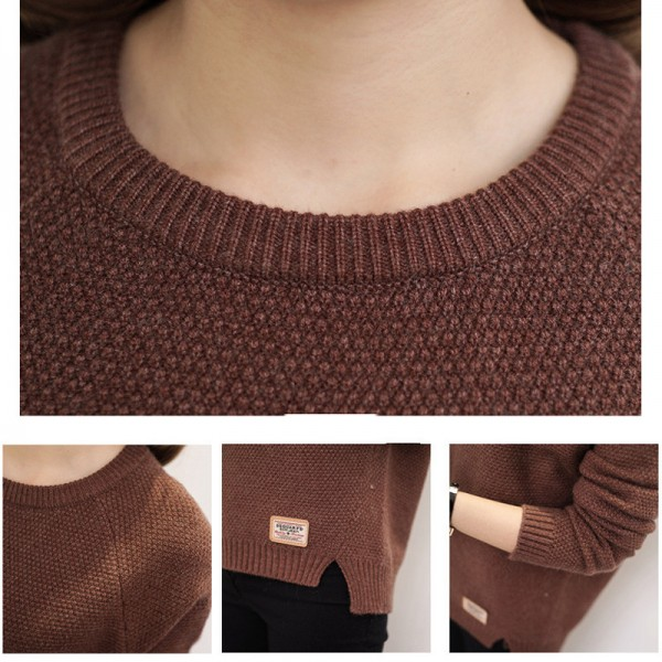 21f9452d428d7d ... Sweater Women Knitted Pullover Female Winter O Neck Long Sleeve Women  Sweaters And Pullovers Autumn Tops ...