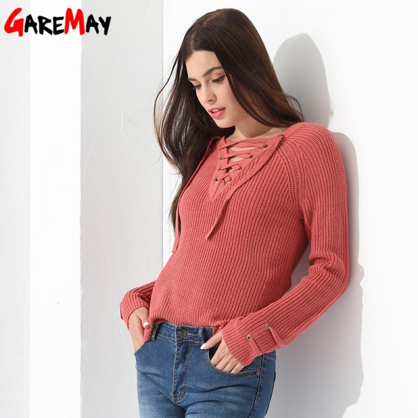 Sweater Women Pullover Slim Long Sleeve Knitted jumper Femme Sexy Tops Ladies Sweaters Knitwear Clothing For Women