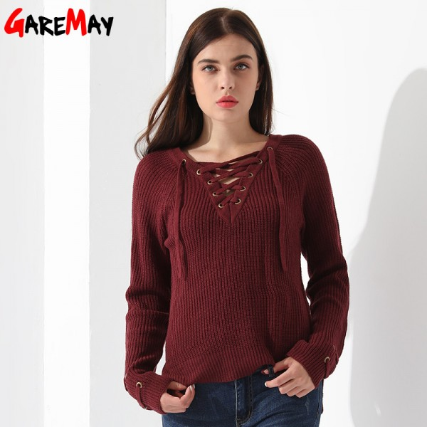 Sweater Women Pullover Slim Long Sleeve Knitted jumper Femme Sexy Tops Ladies Sweaters Knitwear Clothing For Women Extra Image 2