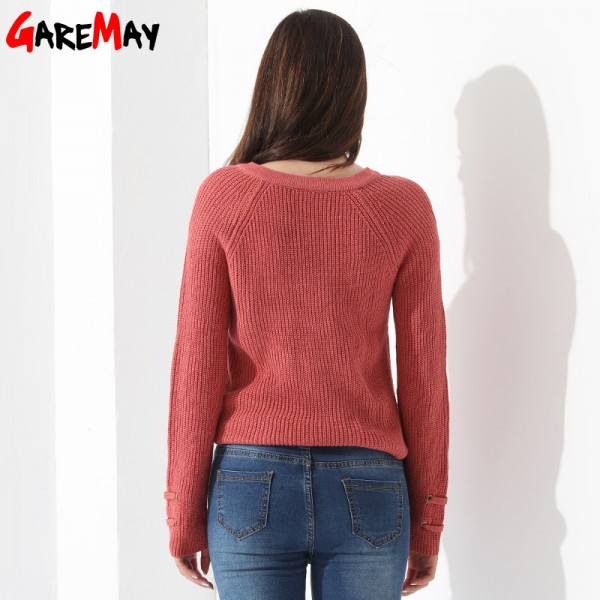 Sweater Women Pullover Slim Long Sleeve Knitted jumper Femme Sexy Tops Ladies Sweaters Knitwear Clothing For Women Extra Image 3