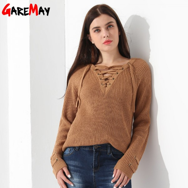 Sweater Women Pullover Slim Long Sleeve Knitted jumper Femme Sexy Tops Ladies Sweaters Knitwear Clothing For Women Extra Image 4
