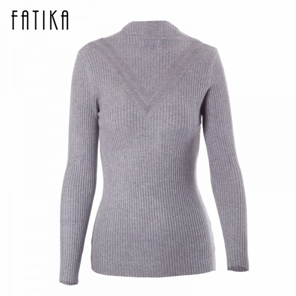 Sweater Women Spring Cotton Pullovers Long Sleeve half turtleneck sweater Slim Knitwear Slim Jumpers For Women Extra Image 6