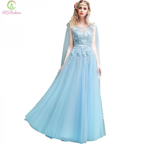 Sweet Lace Evening Dress The Bride Banquet Elegant Appliques Beading Sleeveless Long Party Formal Evening Dresses Extra Image 1