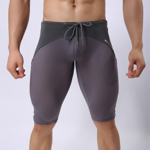 Swim Trunks Men Hawaiian Trunks Quick Dry Beach Surfing Running Swimming Pant Man Diving Long Swimsuit Extra Image 4