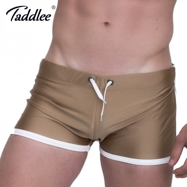 Taddlee Mens Running Sports Shorts Boxer Trunks 2018 Summer Short Pants Bottoms Men Gym Low Rise Gym Workout Shorts Extra Image 2