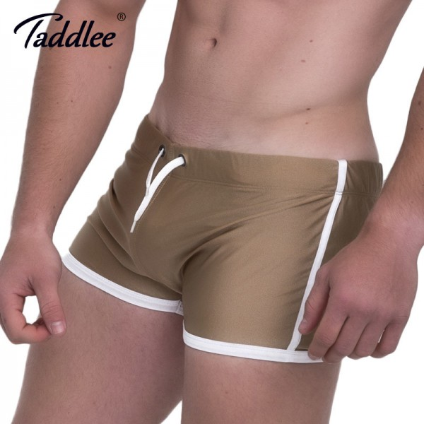 Taddlee Mens Running Sports Shorts Boxer Trunks 2018 Summer Short Pants Bottoms Men Gym Low Rise Gym Workout Shorts Extra Image 3