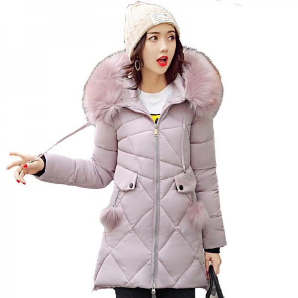 Thick Big Fur Collar Winter Jacket Women 2019 High Quality Plus Size Womens Jackets Hooded Long Coat Female Parkas Extra Image 1