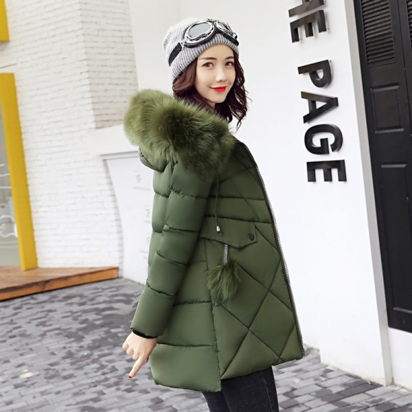 Thick Big Fur Collar Winter Jacket Women 2019 High Quality Plus Size Womens Jackets Hooded Long Coat Female Parkas Extra Image 2