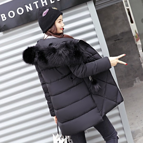 Thick Big Fur Collar Winter Jacket Women 2019 High Quality Plus Size Womens Jackets Hooded Long Coat Female Parkas Extra Image 4