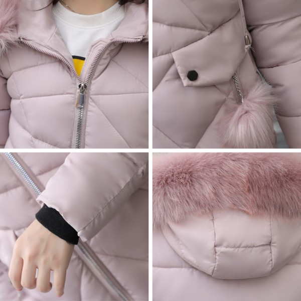 Thick Big Fur Collar Winter Jacket Women 2019 High Quality Plus Size Womens Jackets Hooded Long Coat Female Parkas Extra Image 6