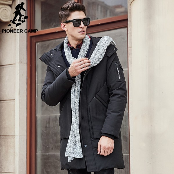Thick winter down jacket men warm New Fashion brand clothing Top quality Long Male Pure White duck down coat Extra Image 2