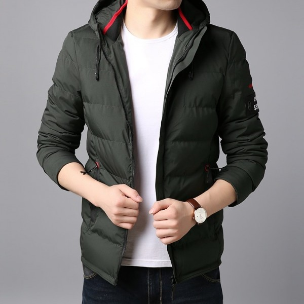 Thick Winter Fashion Brand Jacket Men Quilted Streetwear Parkas Hooded Korean Bubble Puffer Coat Slim Fit Men Clothes Extra Image 3