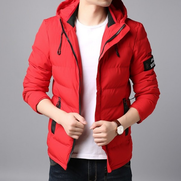 Thick Winter Fashion Brand Jacket Men Quilted Streetwear Parkas Hooded Korean Bubble Puffer Coat Slim Fit Men Clothes Extra Image 4