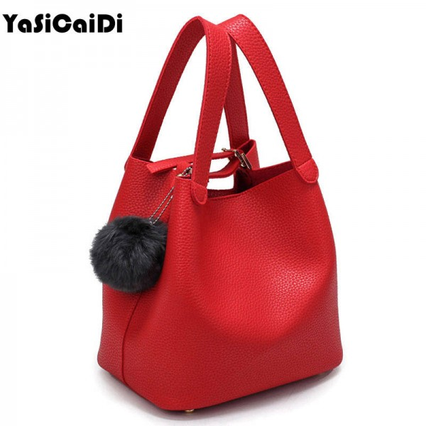 Top Handle Sexy Fashion Top Quality Leather Handbags Latest Design Women Thumbnail