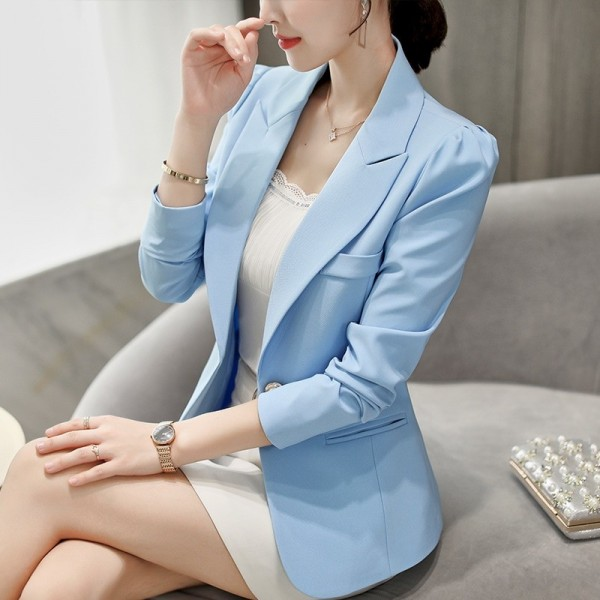 Top Quality Spring Autumn Womens Blazer Elegant Fashion Office Lady Blazers Coat Suits Female Single Button Jacket Suit Extra Image 1