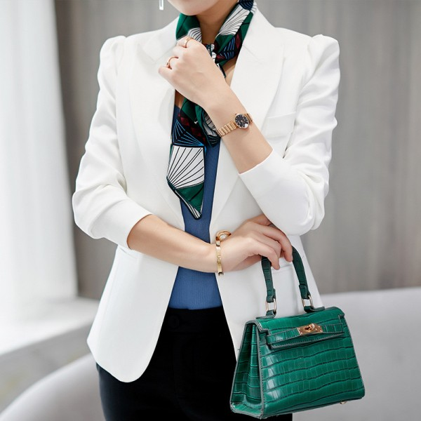 Top Quality Spring Autumn Womens Blazer Elegant Fashion Office Lady Blazers Coat Suits Female Single Button Jacket Suit Extra Image 2