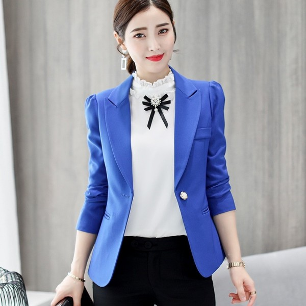 Top Quality Spring Autumn Womens Blazer Elegant Fashion Office Lady Blazers Coat Suits Female Single Button Jacket Suit Extra Image 4