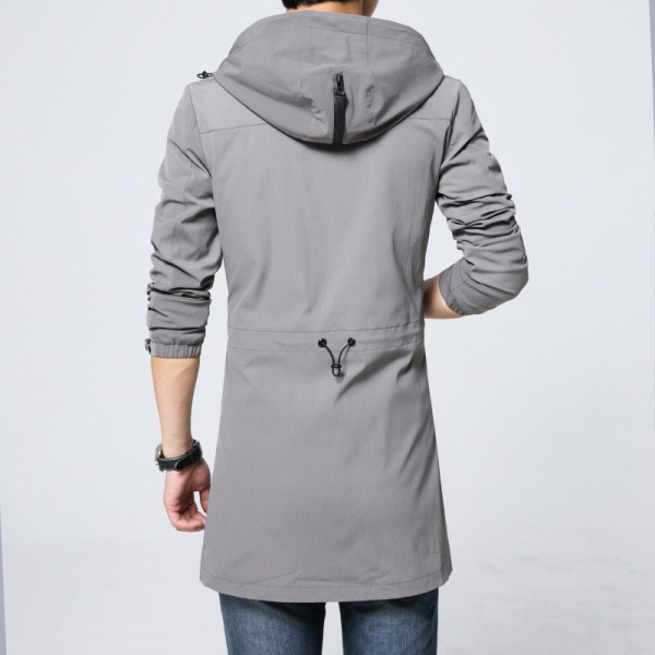 Trench Coat Men Classic Mens Zipper Trench Coat Masculino Mens Clothing Long Jackets Coats British Style Overcoat Extra Image 6