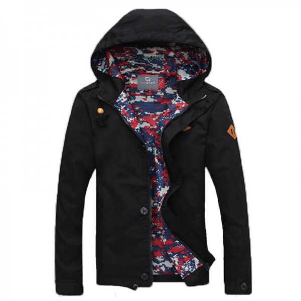 Trending Jackets Spring New Arrival Men Jacket With Hood Fashion Jacket Casual Spring  Autumn Jacket Coats Outwear Extra Image 2