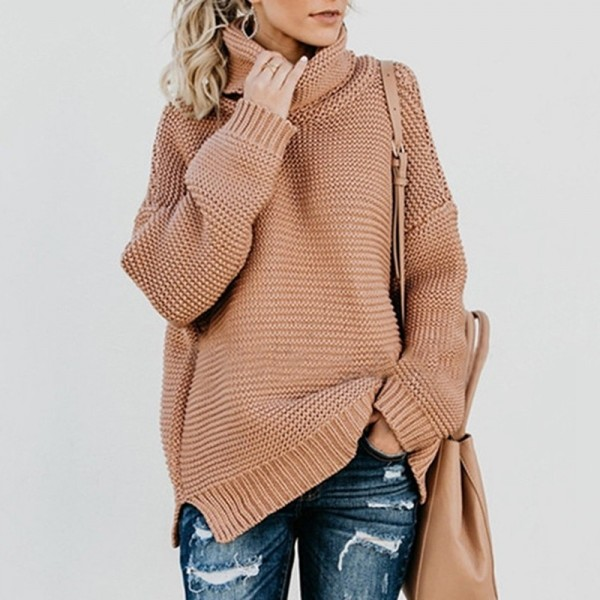 Turtleneck Knitting Thick Sweater Women Solid Winter Clothes Long Sleeve Loose Korean Warm Pullover Sueter Mujer Extra Image 3