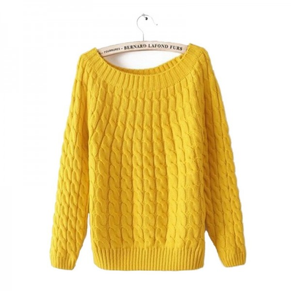 Twist Pattern Sweaters Women Autumn Winter Fashion Basic Pullover Female Jumpers Long Sleeve Casual Knitted Extra Image 1