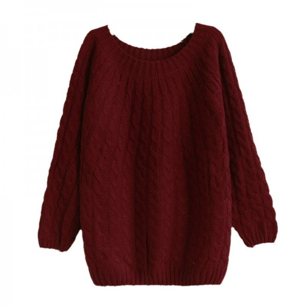 Twist Pattern Sweaters Women Autumn Winter Fashion Basic Pullover Female Jumpers Long Sleeve Casual Knitted Extra Image 4