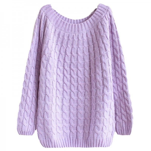 Twist Pattern Sweaters Women Autumn Winter Fashion Basic Pullover Female Jumpers Long Sleeve Casual Knitted Extra Image 5