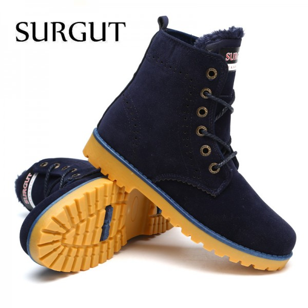 Unisex Winter Boots Comfortable Ankle Men Boots Quality Leather Footwear Warm Fur Casual Shoes Lover Couple Boots Extra Image 5
