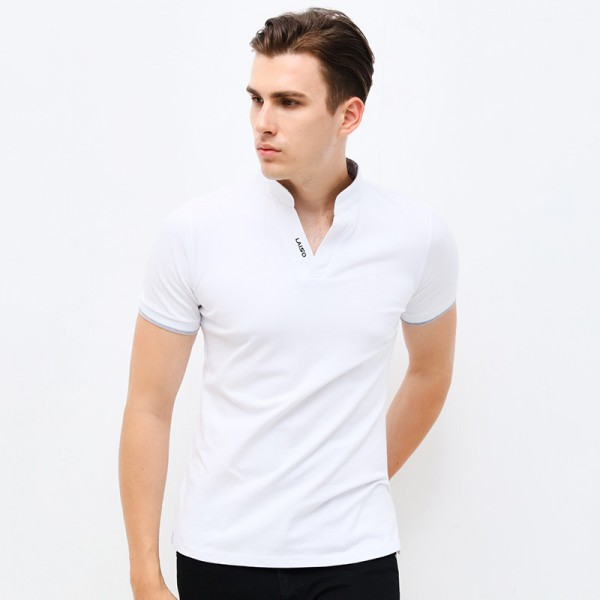 V Neck T Shirts Tees Tops For Men New Autumn Spring V Neck Short Sleeve Mens Clothings Plus Size Tees Extra Image 3