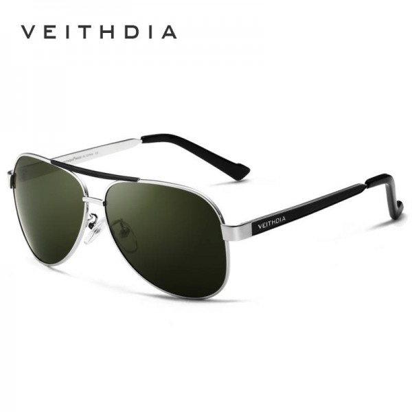 4d69c827bb8 Veithdia Polarized Pilot Aviator Sunglasses For Men High Quality Green  Mirror Eye Accessories For Boys ...