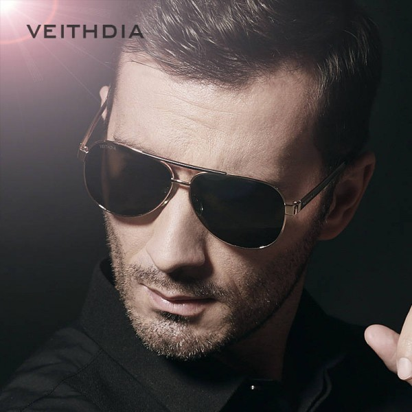 Veithdia Polarized Pilot Aviator Sunglasses For Men High Quality Green Mirror Eye Accessories For Boys Extra Image 2