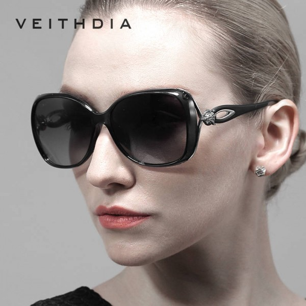 Veithdia Retro Polarized Luxury Ladies Sunglasses Designer Oval UV400 Fully Customized Womens Shades Goggles Extra Image 0