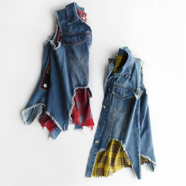 Vests Cardigan Fashion Casual 2 Piece Set Sleeveless Summer Denim Women Jacket Female Waistcoat Extra Image 5