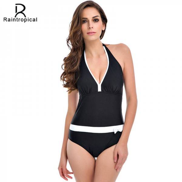 0a29536894d Vintage Bathing Suits Halter Top Sexy Monokini Beach Bathing Suits  Customized Plus Sized Women Swimsuits ...