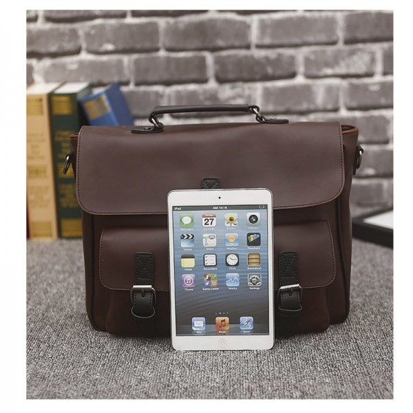 Vintage Men Messenger Bag Genuine Leather Casual Handbag Business Laptop Cross Body Shoulder Bags Retro Male Briefcase Extra Image 3