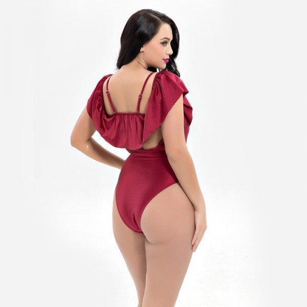 Vintage One Piece Suits Plus Size Swimsuits Women Large Size Bathing Suits Women Sexy Big Bathing Suit Shoulder Extra Image 4