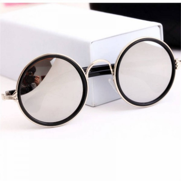 Vintage Round Cat Eye Male Female Sunglasses Round Polarized UV400 Plastic Frame High Quality Eye Accessories