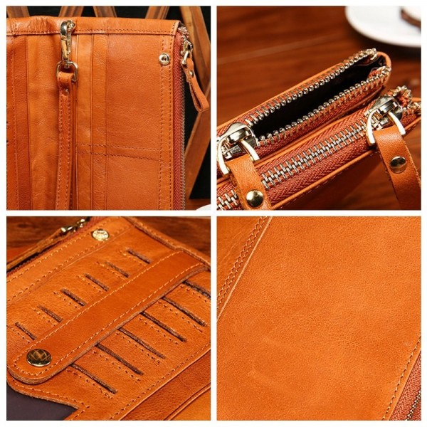Vintage Wallet Genuine Leather Soft Clutch Double Zipper Long ID Card Holders Multifunction Luxury Business Purse Male Extra Image 6