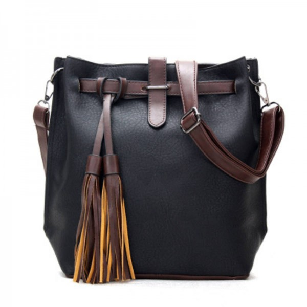 Vintage Women Bucket Bags Top Quality Leather Messenger Bags