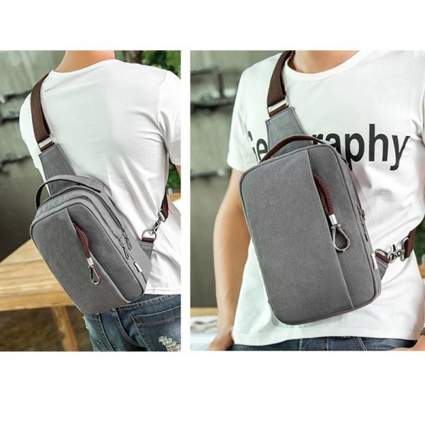Vogue Brand Trending Canvas Shoulder Backpack Stylish School College Casual Sling Bag Multicolor Chest Bag Extra Image 6