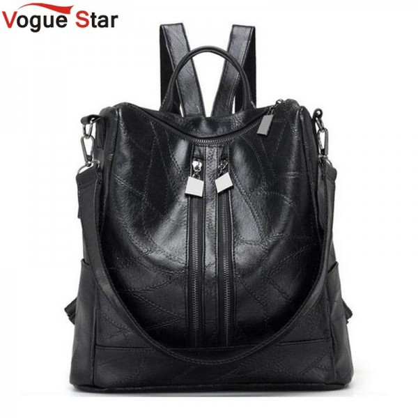 Vogue Star Alligator Backpacks High Quality Leather Bags For Ladies Student School Bags Female Shoulder Bags Extra Image 1