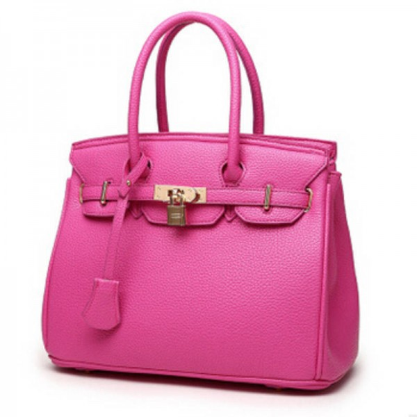 Vogue Star Luxury Lock Rivet Ladies Leather Tote Bags New ...