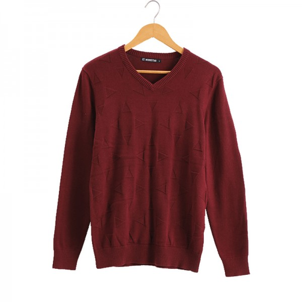 Vomint Brand Cotton Mens Sweaters V neck Top Dyed Sweaters Pullover man Solid Color Class Style Knitwear Extra Image 4