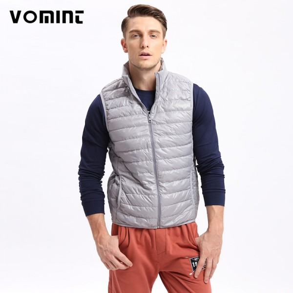 Vomint Brand New Mens Down Coat Vest Jacket Winter Light Down Vest Short Slim Down Men Vest Short Jackets Extra Image 1