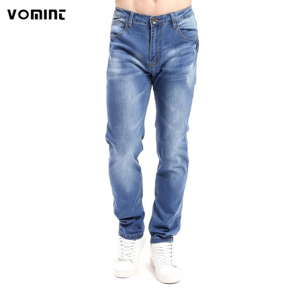 Vomint Brand New Mens Ripped Stretch Jeans Homme Fashion Slim Fit Jogger Denim Pants Men Skinny Streetwear Blue