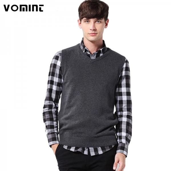 Buy Vomint Classic Mens Pullover Sweater V Neck New Sweater ...