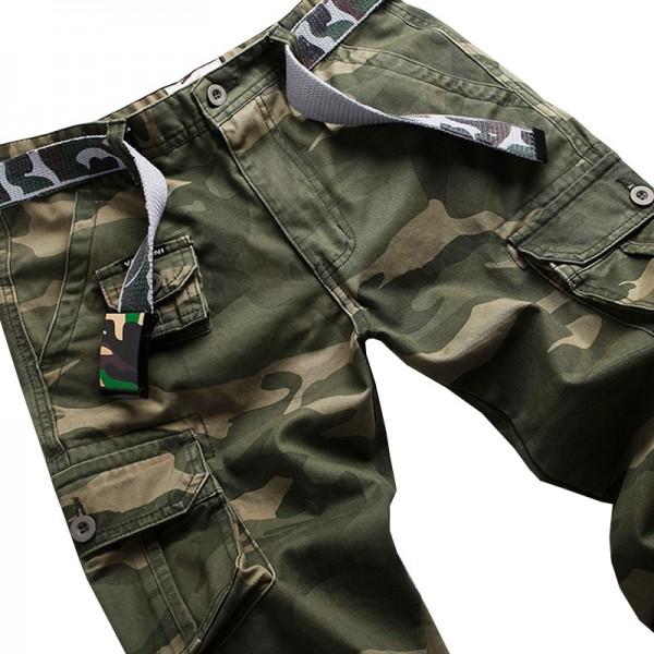 Vomint New Men Fashion Military Cargo Army Pants Slim Regular Straight Fit Cotton Multi Color Camouflage Green Yellow Extra Image 5