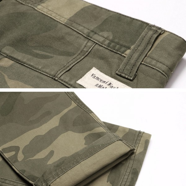 Vomint New Men Fashion Military Cargo Pants Slim Regular Straight Fit Cotton Multi Color Camouflage Green Yellow Extra Image 5